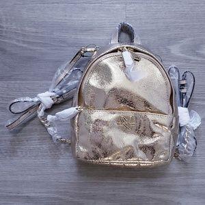 Victoria's Secret Gold Mini City Backpack